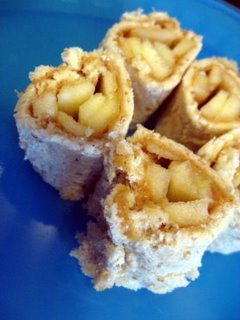 Peanut Butter and Apple Sushi Snack
