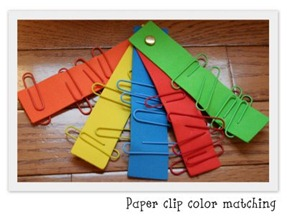 Easy-to-Make Color Matching Activity