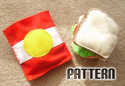 Felt Sandwich and Chips Pattern