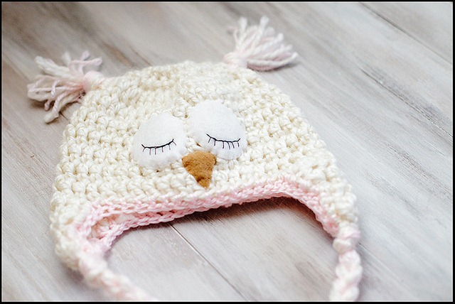 Crochet Owl Hat Pattern One Crafty Place