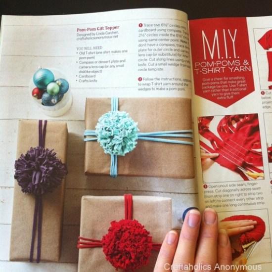 pom pom gift topper craftaholics anonymous