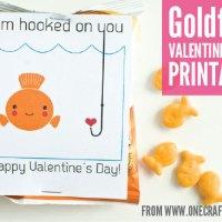 Goldfish Valentine's Day Printable