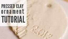 pressed clay ornament tutorial