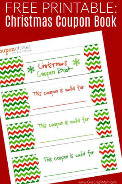 Free Christmas Coupon Book Printable - Homemade Christmas Coupons
