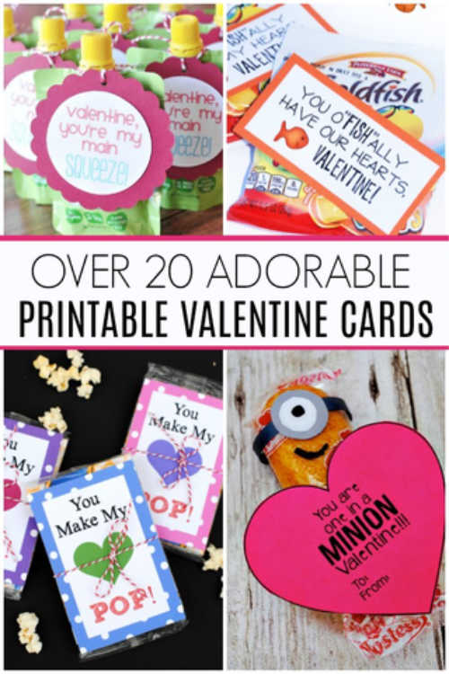 Free printable Valentines Day cards for kids - Free Valentine Printables