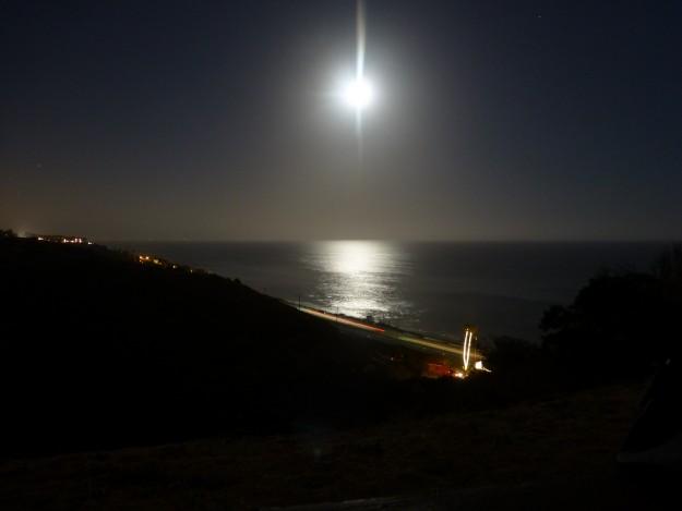 Girl Looking At Moon Wallpaper Camping In Malibu And A Super Moon