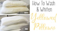 How To Wash & Whiten Yellowed Pillows - One Good Thing by ...