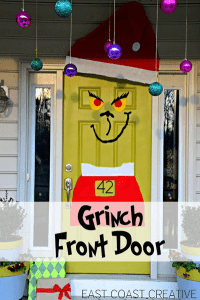 Creative Christmas Front Door Decor - One Good Thing by Jillee
