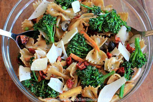 Summer Salad Recipe – Pasta Salad with Broccoli, Carrots, and Sun ...