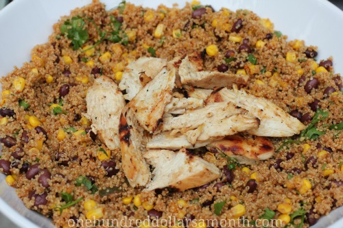 Easy Quinoa Recipes - Chicken, Quinoa, Taco Salad
