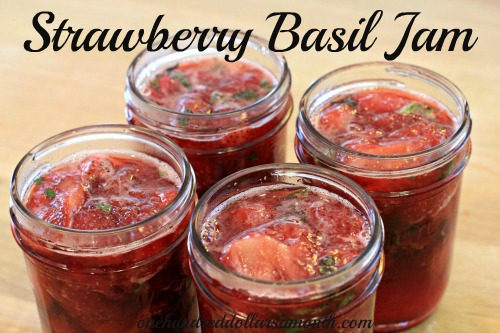 recipe strawberry basil jam