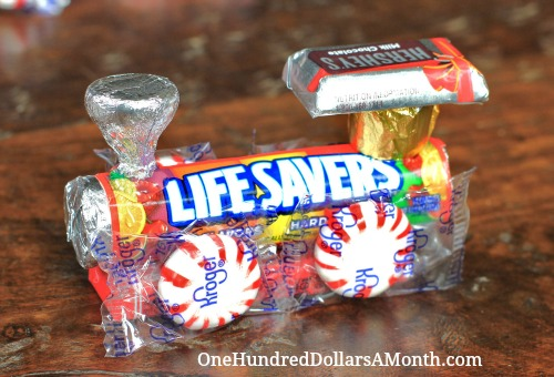 how to make a candy train pictures