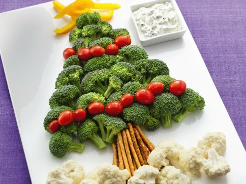 christmas fruit and vegetable tray plater ideas