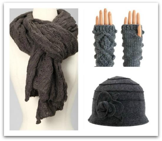 chunky grey scarf