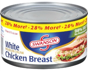 swanson chicken breast canned