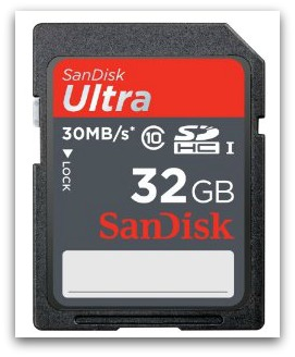 SanDisk Ultra 32 GB SDHC Class 10 Flash Memory Card