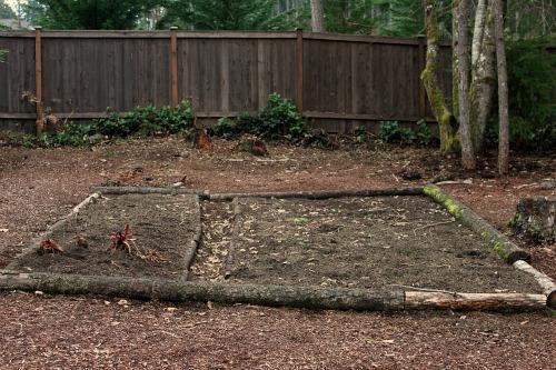 garden bed logs