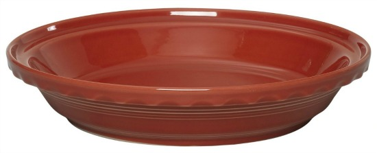 fiesta red pie plate