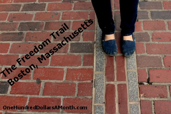 the freedom trail brick path