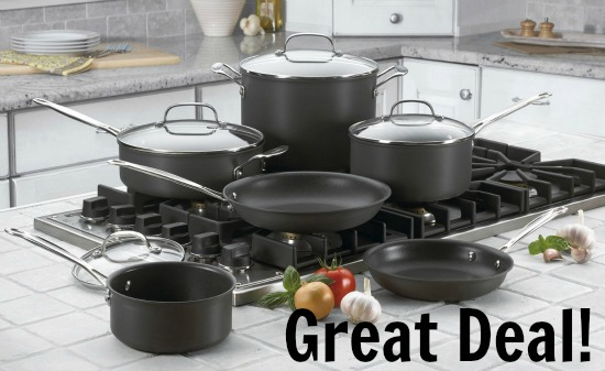 Cuisinart 66-10 Chef's Classic Nonstick Hard-Anodized 10-Piece Cookware Set