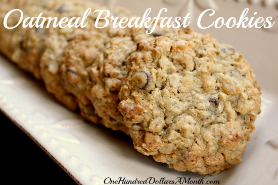 Oatmeal Breakfast Cookies with Apricots and Walnuts