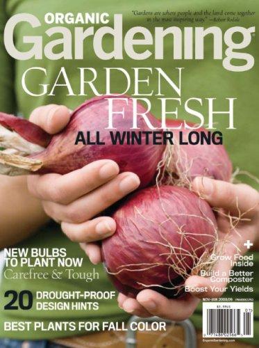organic gardening magazine cover