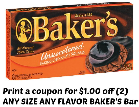 Baker's Chocolate Coupons