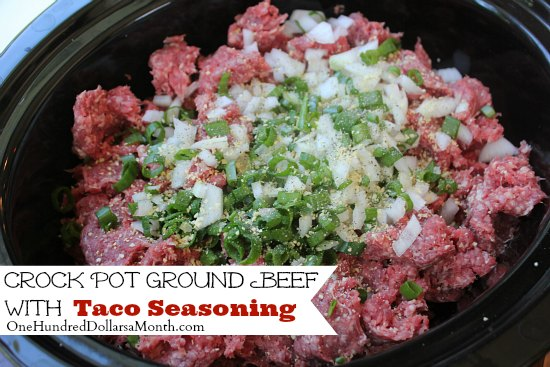 ... ground beef in the crock pot back when i got my 40lbs of zaycon ground