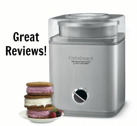 Cuisinart 2 Quart Automatic Frozen Yogurt, Sorbet, and Ice Cream Maker
