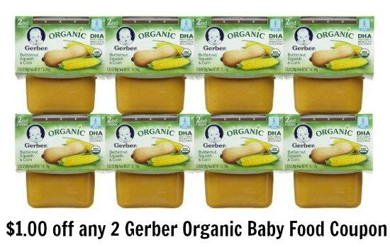 gerber organic baby food