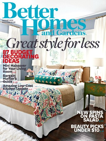 better homes and gardens august 2013