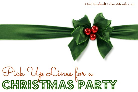 Pick Up Lines for Christmas Party