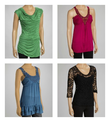 flowing and figure flattering  tops