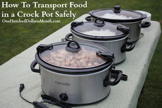 How To Transport Food in a Crock Pot Safely
