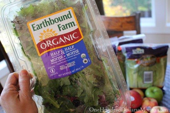 earthbound farms organic lettuce kale half and half