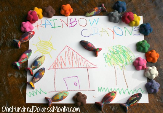 How to Recycle Old Crayons into New Rainbow Crayons