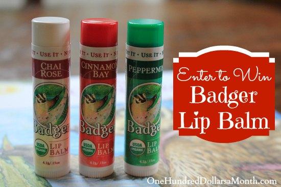 badger lip balm