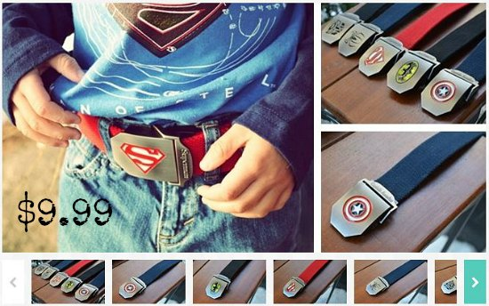 super hero belts