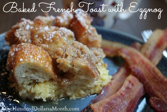 Baked French Toast with Eggnog