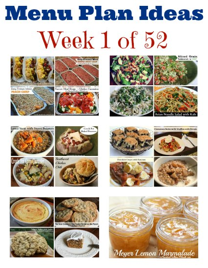 Weekly Meal Plan – Menu Plan Ideas Week 1 of 52