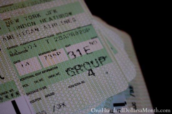 airline plane ticket