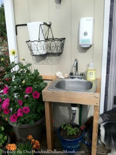 outdoor garden sink