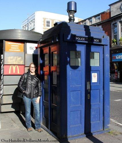 London Tardis Dr Who Blue Police Box