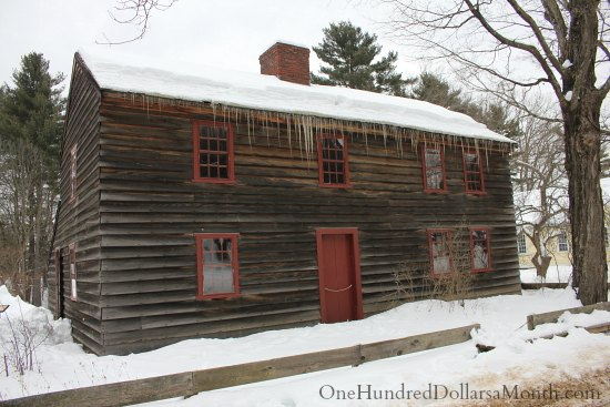 Old Sturbridge Village New England Living History Museum fenno house saltbox