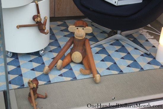 hand carved wooden monkeys