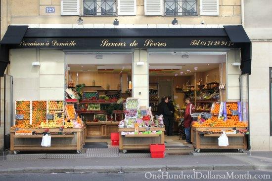 paris fruit stand