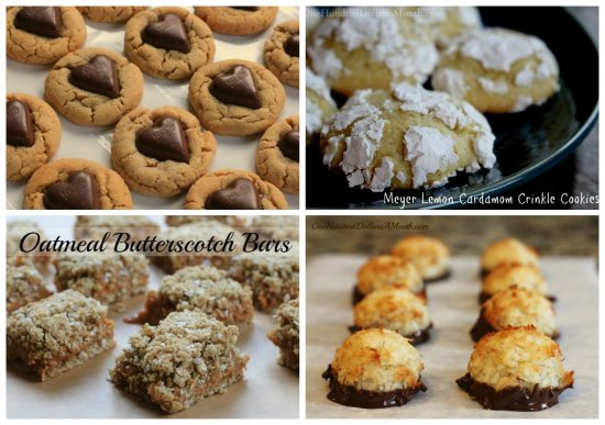 weekly menu plan cookies