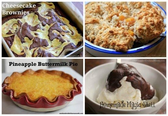 weekly menu plan desserts