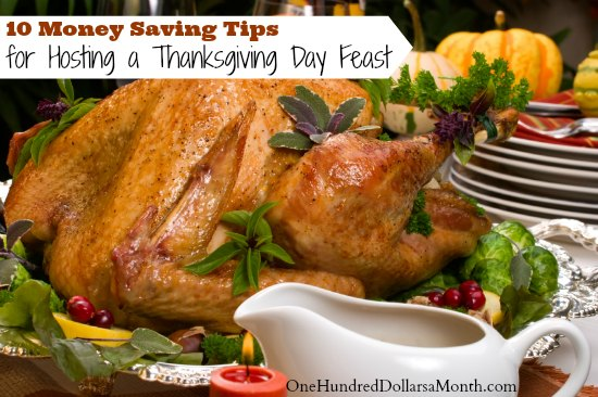 10 Money Saving Tips for Hosting a Thanksgiving Day Feast