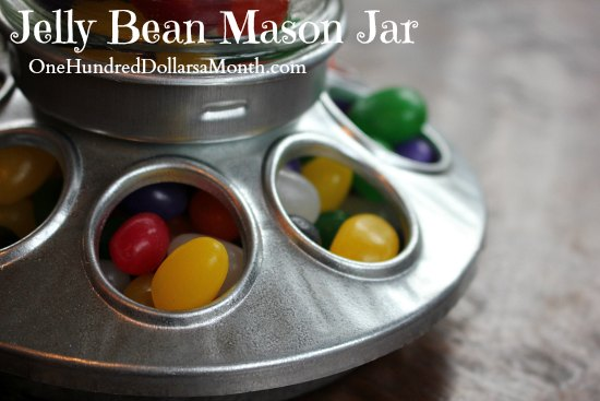 Jelly Bean Mason Jar chick feeder